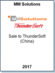 Entrea Capital advised the owners of MM Solutions in a 100% sale to ThunderSoft (China)