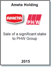 Entrea Capital advised Ameta Holding, the largest Bulgarian integrated poultry producer, in the Share Sale to the German PHW Group