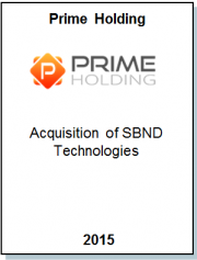 Entrea Capital аdvised Prime Holding, a fast growing IT Outstaffing company, on the аcquisition of competitor SBND Technologies