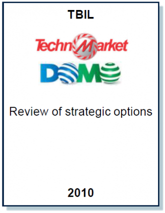 Entrea Capital conducted a review of strategic options for the Majority Owner of TechnomarketDomo