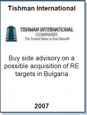 Entrea Capital advised Tishman International on a potential acquisition of a shopping mall in Bulgaria