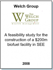 Entrea Capital performed a feasibility study for the Welch Group for the construction of a Biofuel Facility in Bulgaria