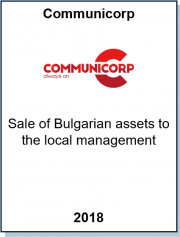 Advised Communicorp Group in the divestment of their Bulgarian assets